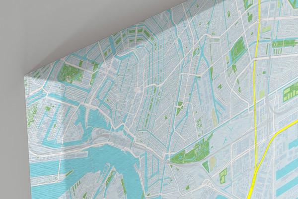 design city map - detail of canvas print