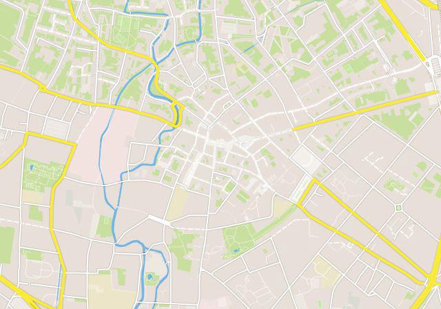 detail van kaart of stratenplan op maat van stad in design Coral